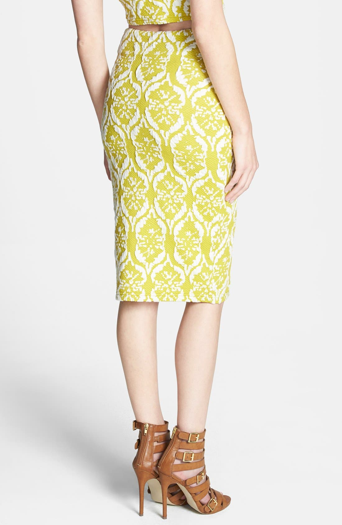 Alternate Image 2  - Lucy Paris Textured Tube Skirt