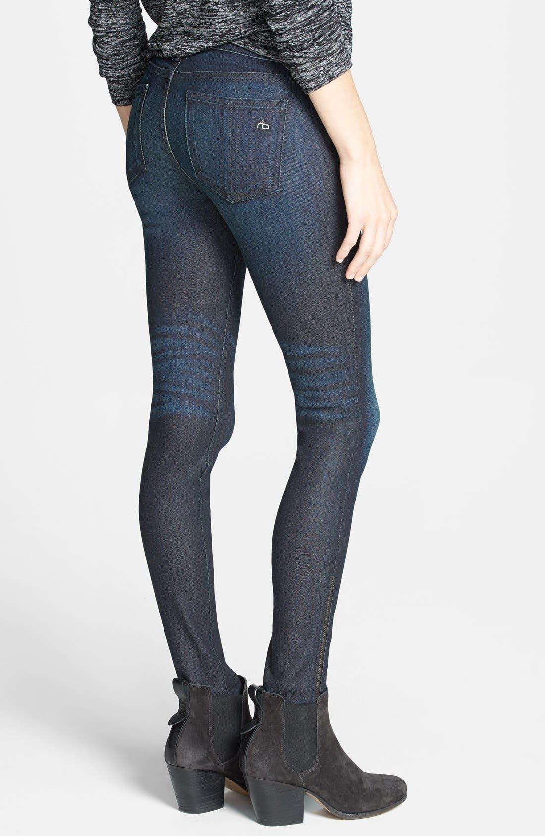 Alternate Image 2  - rag & bone/JEAN Zip Detail Skinny Jeans (Kensington) (Nordstrom Exclusive)