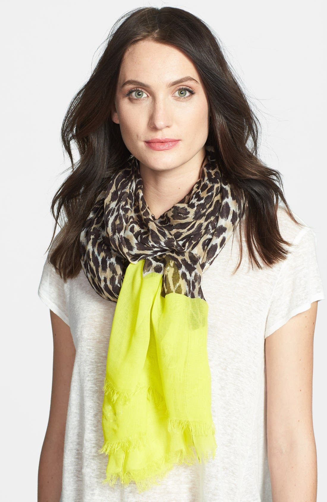 Alternate Image 1 Selected - kate spade new york 'cuban leopard' scarf