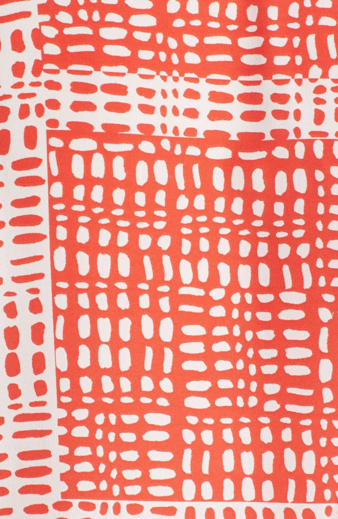 Alternate Image 3  - Anne Klein Print Roll Sleeve Shirt (Plus Size)