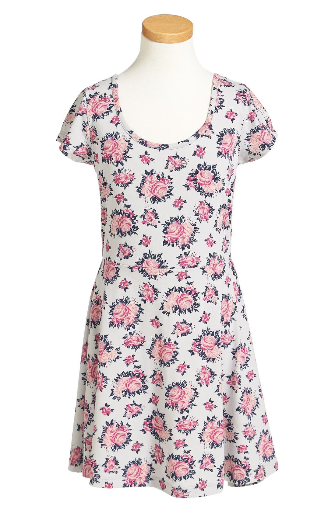 Alternate Image 2  - Tucker + Tate Floral Print Skater Dress (Big Girls)