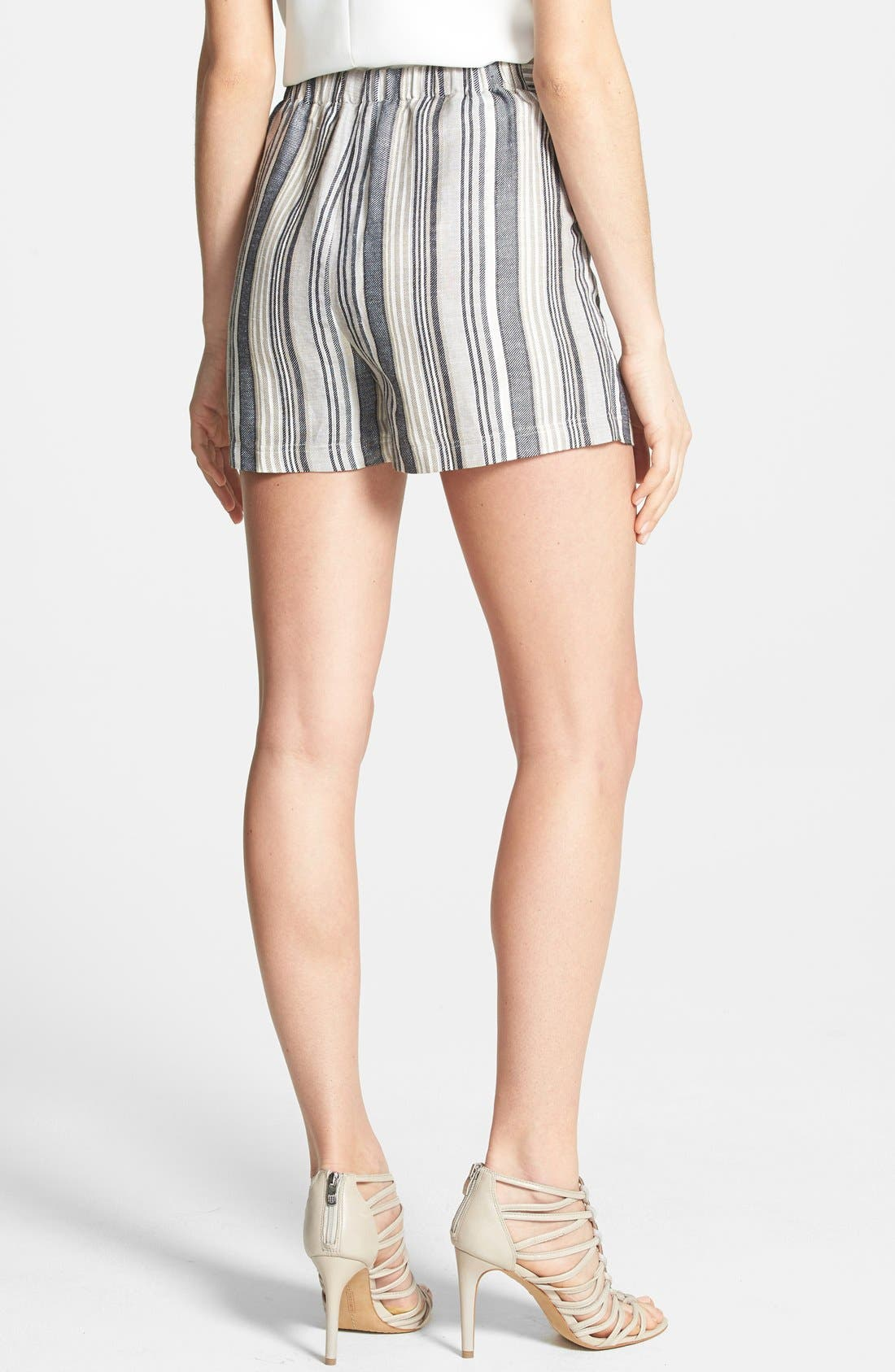 Alternate Image 2  - Vince Camuto Stripe Linen Blend Shorts