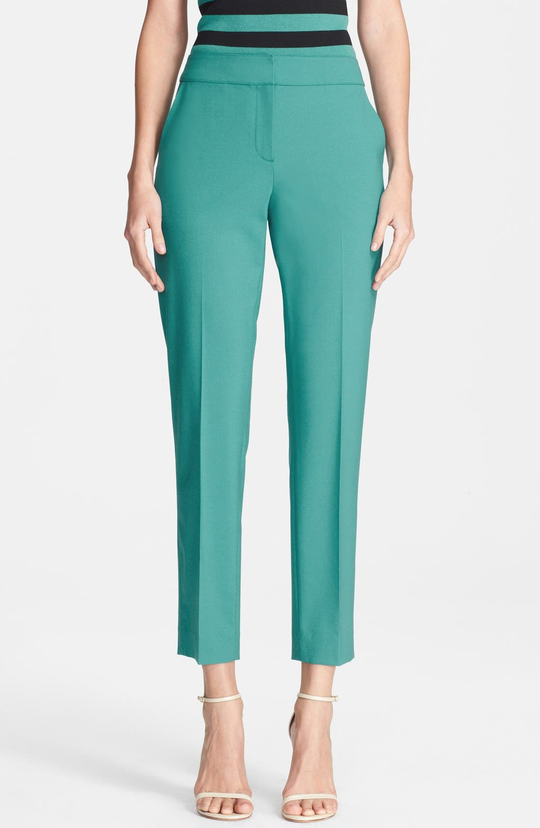 Main Image - St. John Collection 'Emma' Stretch Tropical Crop Pants