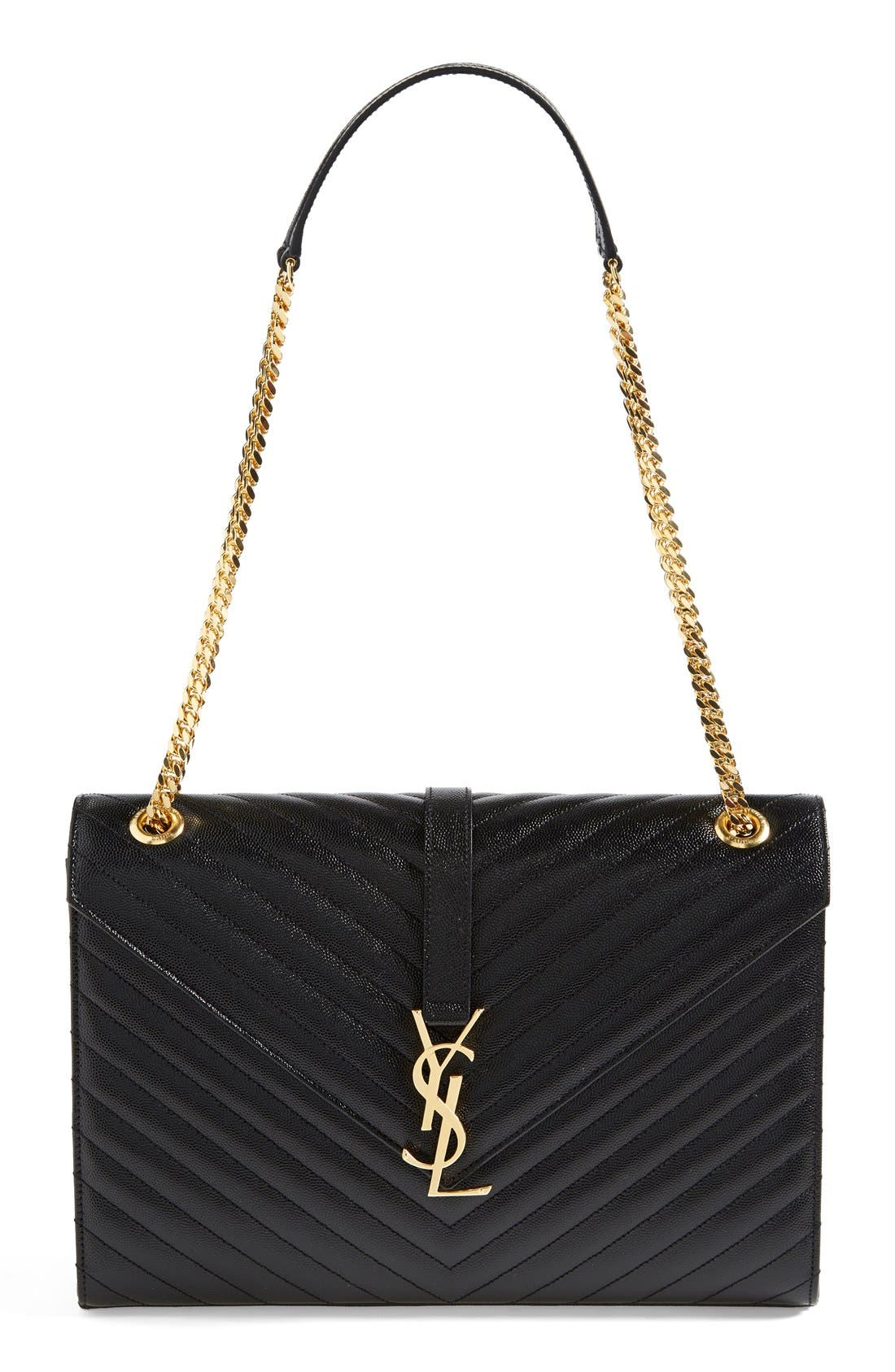 Main Image - Saint Laurent 'Monogram' Leather Shoulder Bag