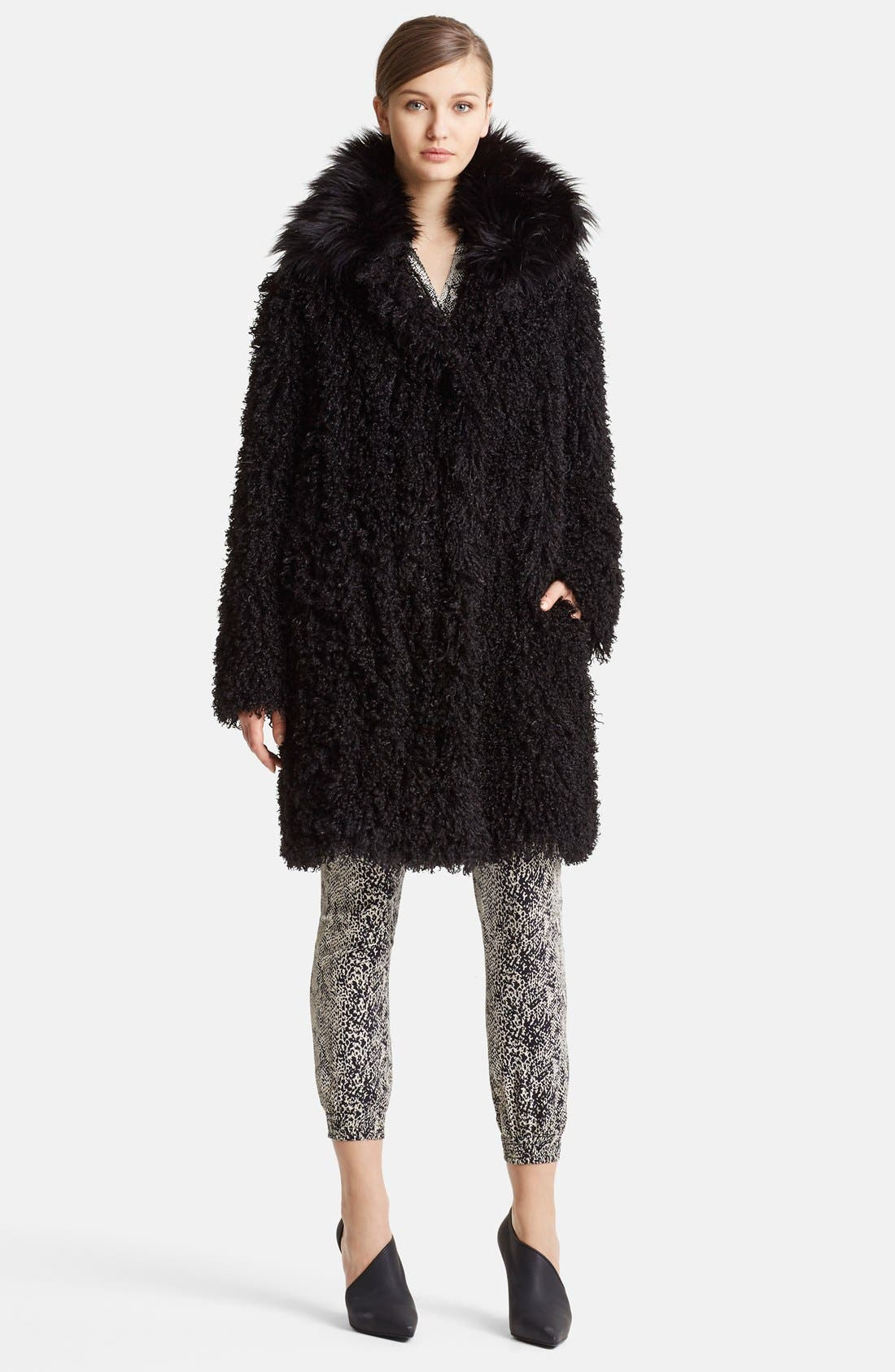 Alternate Image 3  - Lanvin Faux Mongolian Fur Coat
