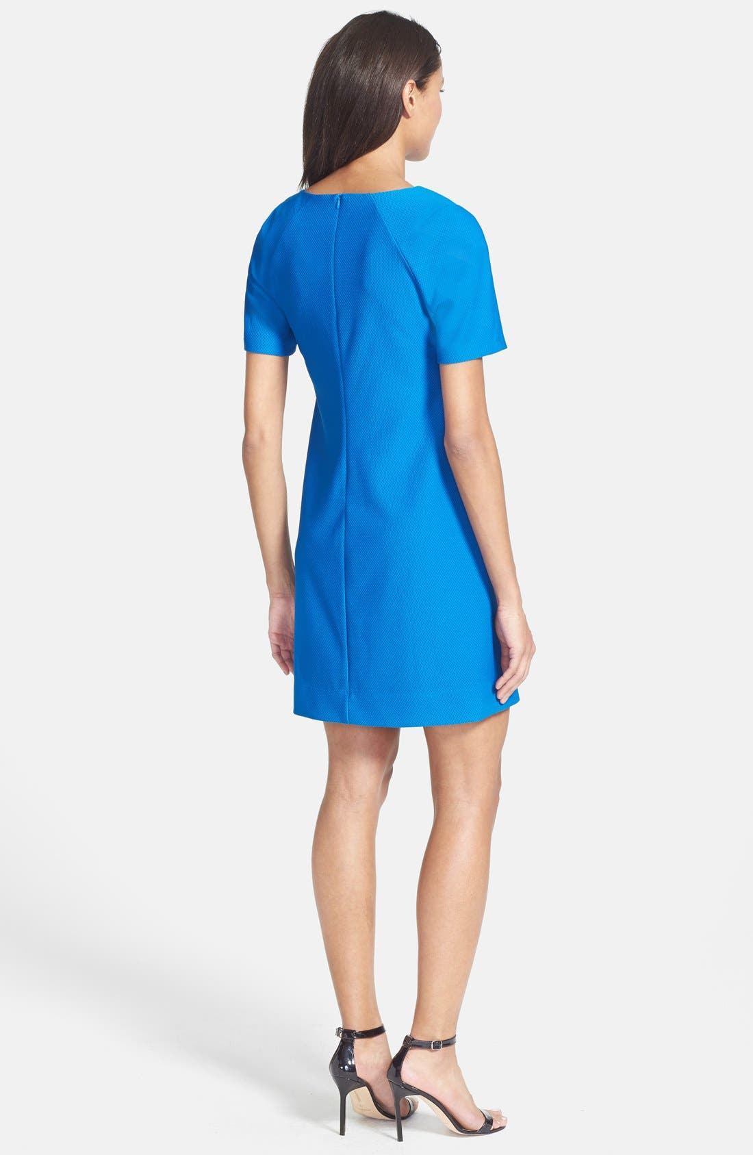 Alternate Image 2  - Donna Ricco Textured Knit Shift Dress