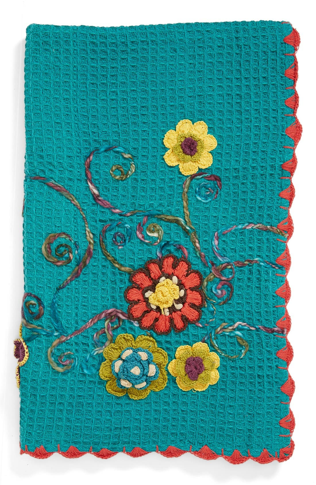 Alternate Image 1 Selected - Amity Home 'Haley' Floral Embroidered Knit Throw