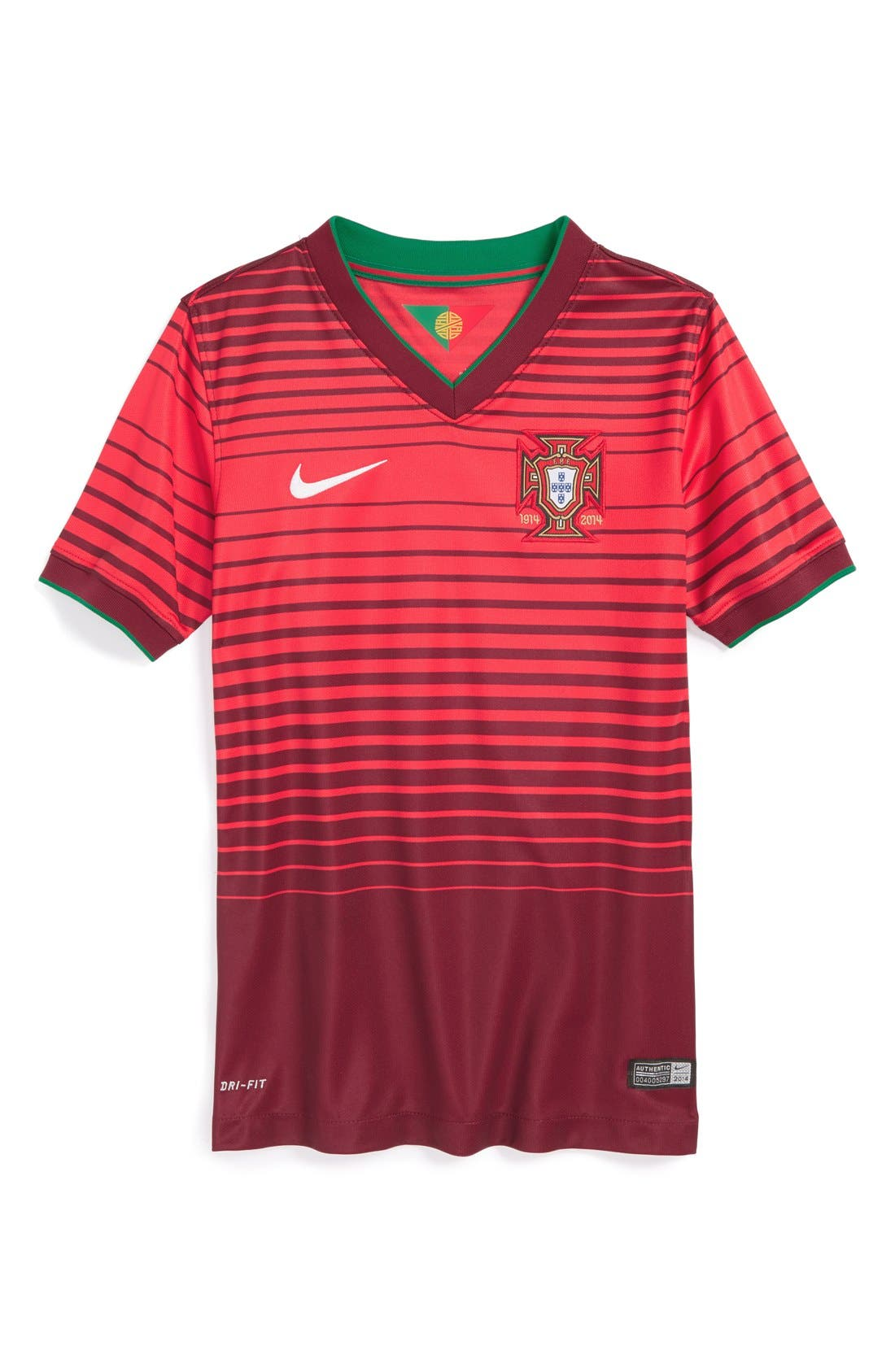 Alternate Image 1 Selected - Nike 'Portugal - 2014 Stadium' Dri-FIT World Soccer Jersey (Big Boys)