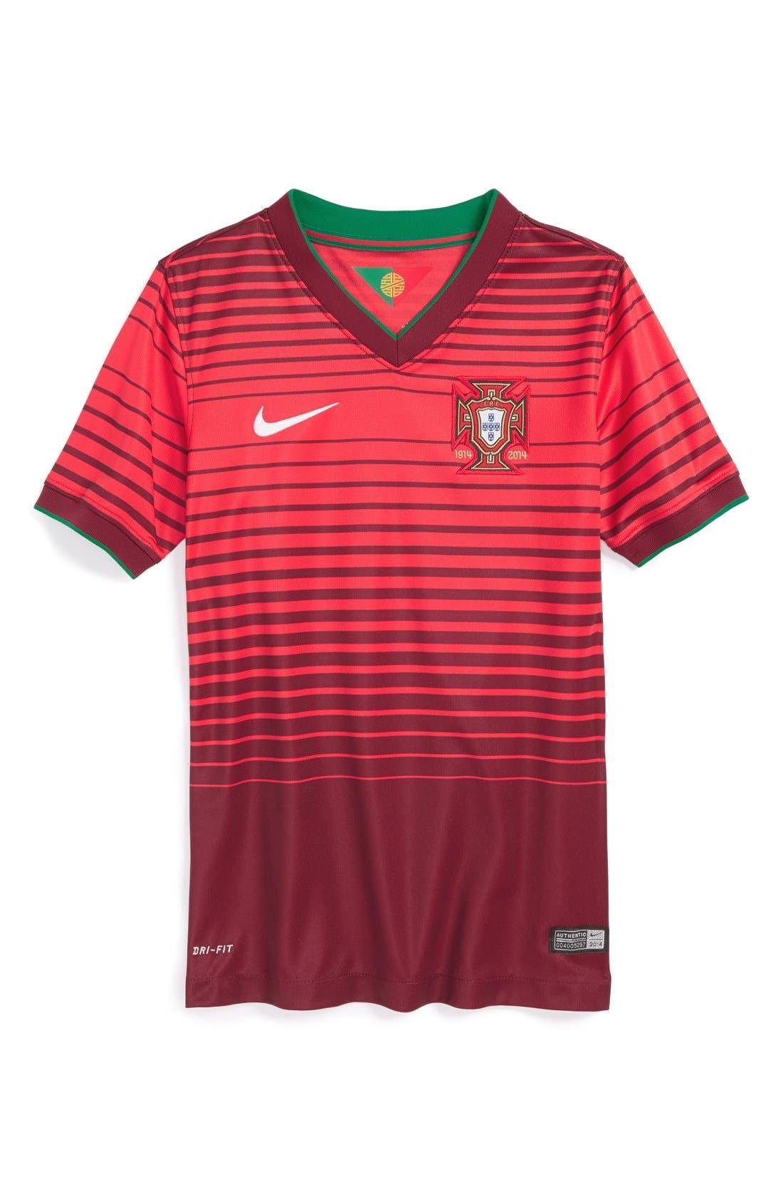 Main Image - Nike 'Portugal - 2014 Stadium' Dri-FIT World Soccer Jersey (Big Boys)