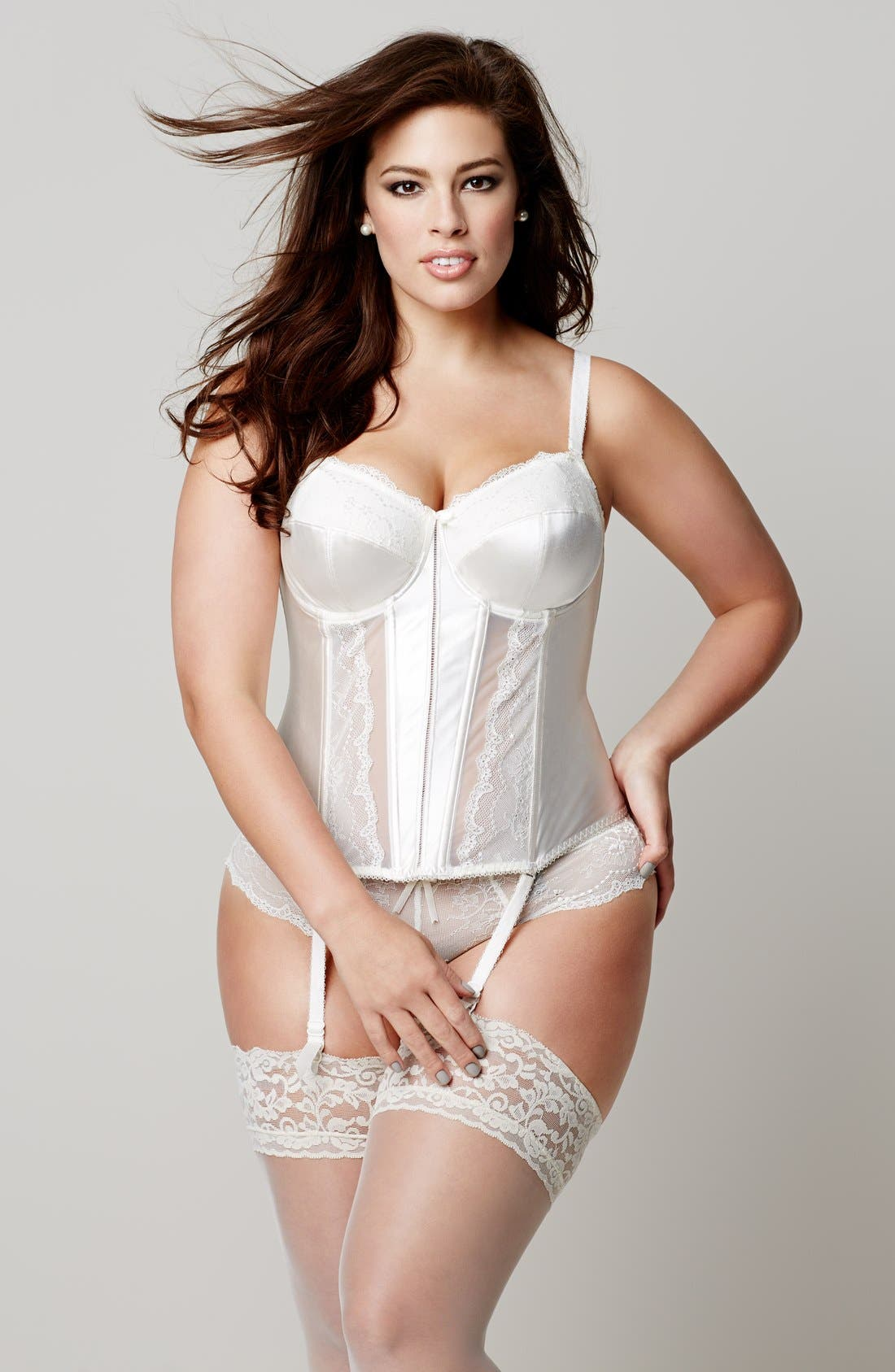 Alternate Image 5  - Elomi 'Maria' Basque Corset (Plus Size)