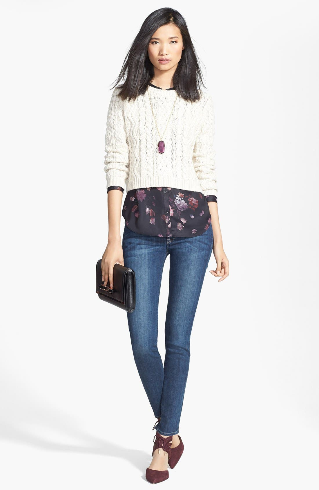 Alternate Image 4  - Hudson Jeans 'Collette' Skinny Jeans (Cascade) (Nordstrom Exclusive)