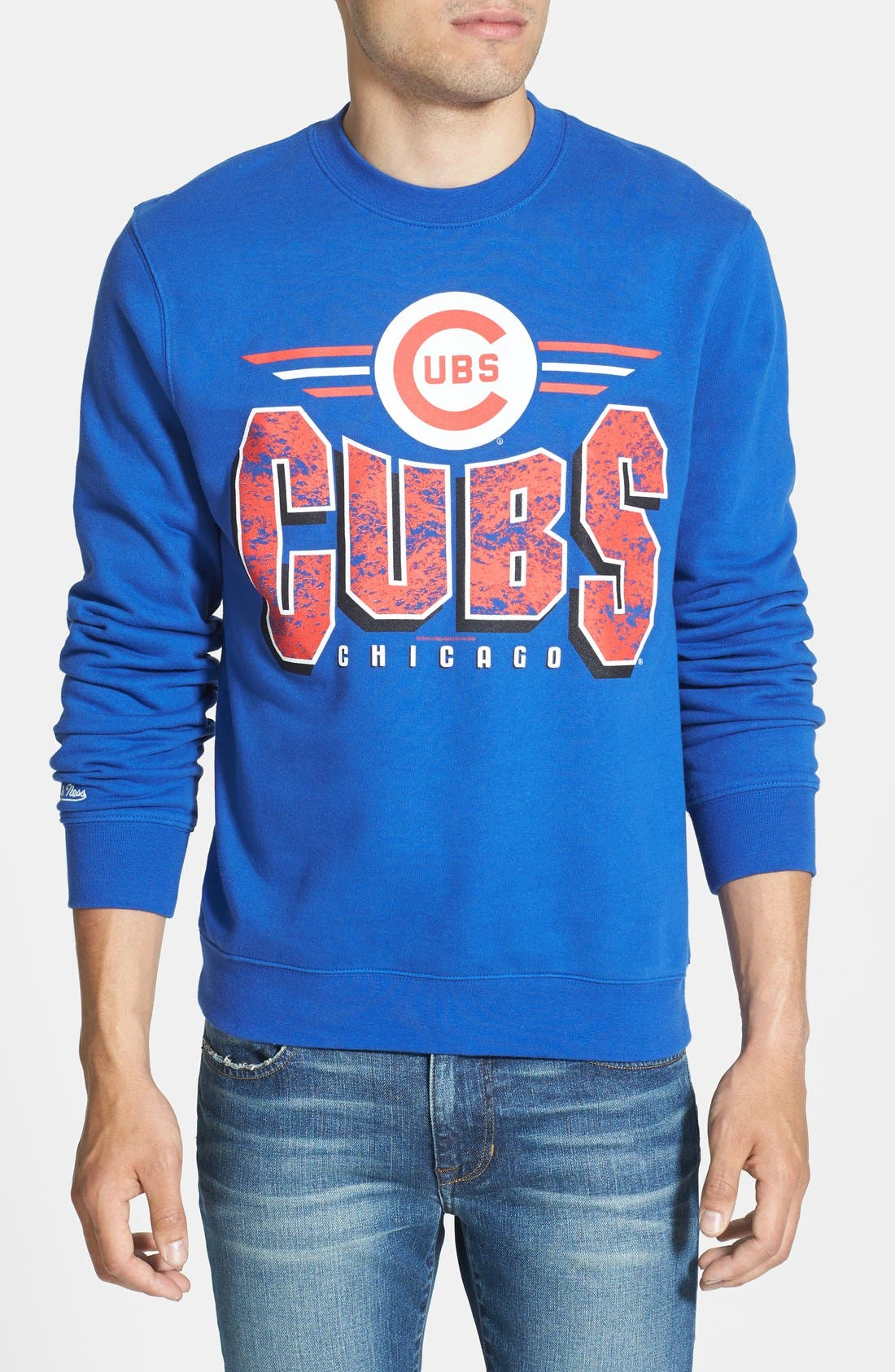 Alternate Image 1 Selected - Mitchell & Ness 'Chicago Cubs' Crewneck Sweatshirt