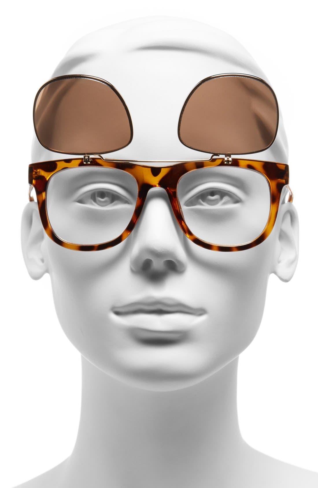 Alternate Image 3  - FE NY 51mm Flip-Up Sunglasses