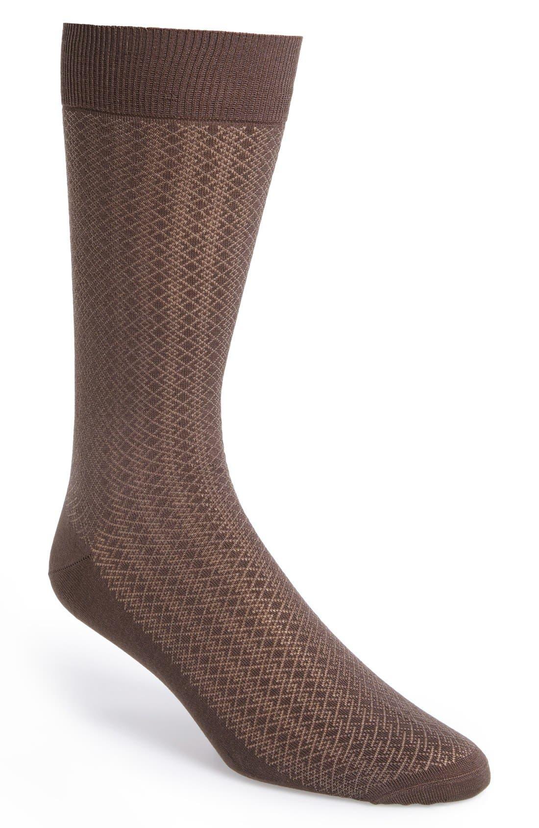 Alternate Image 1 Selected - Canali Pattern Socks