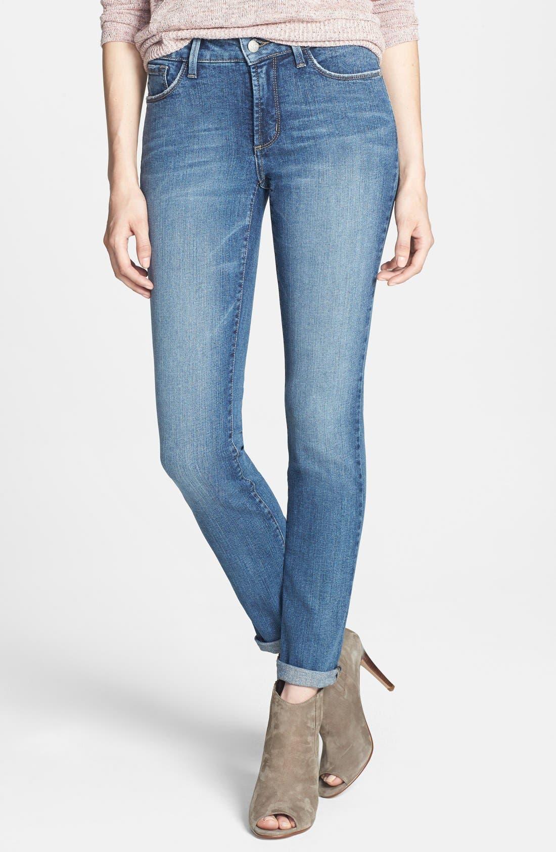 Main Image - NYDJ 'Leann' Stretch Boyfriend Jeans (Durham)