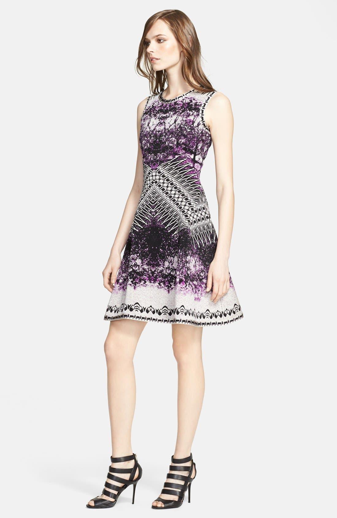 Main Image - Herve Leger Sleeveless A-Line Dress
