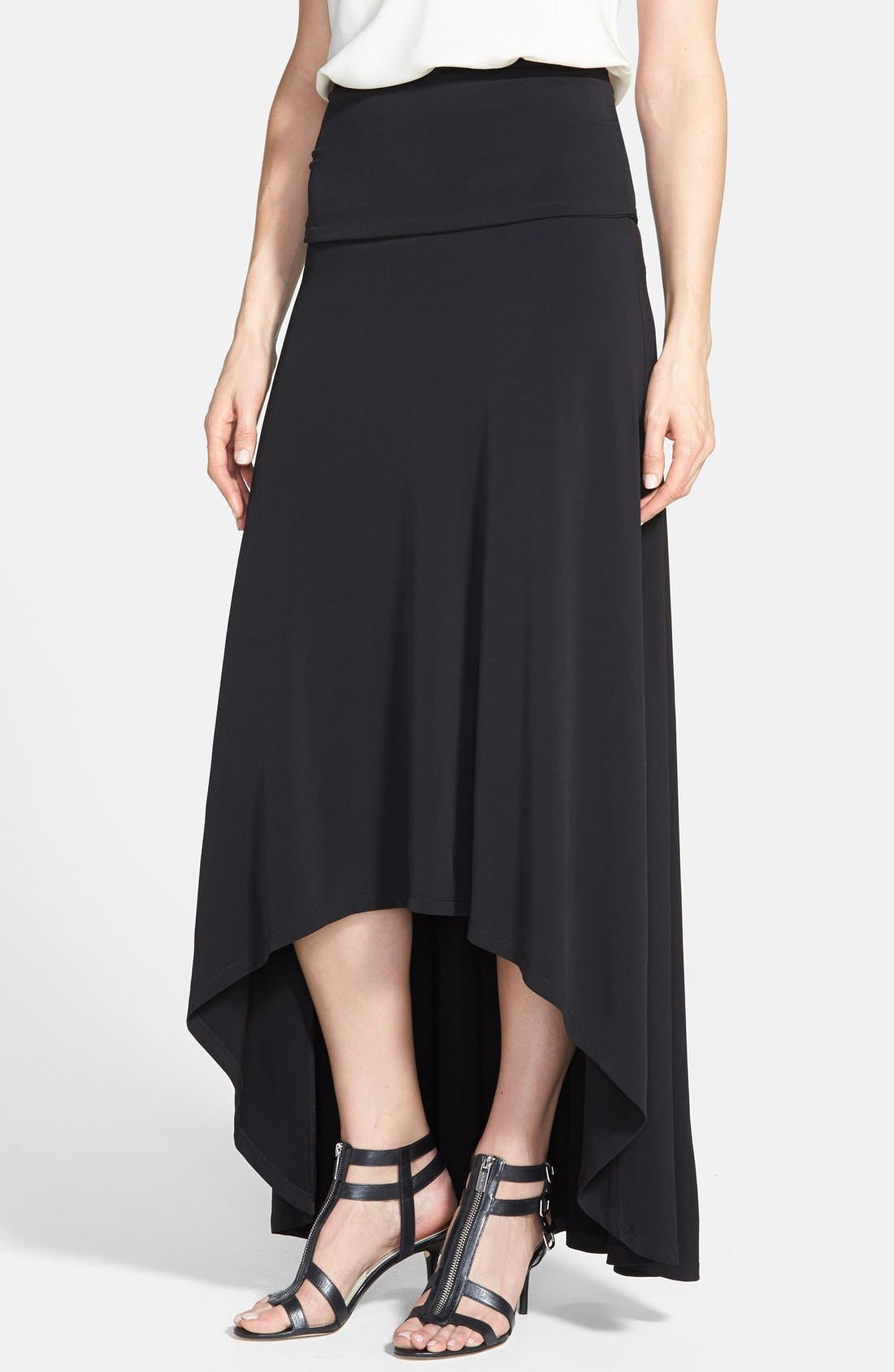 Main Image - MICHAEL Michael Kors High/Low Maxi Skirt (Regular & Petite)