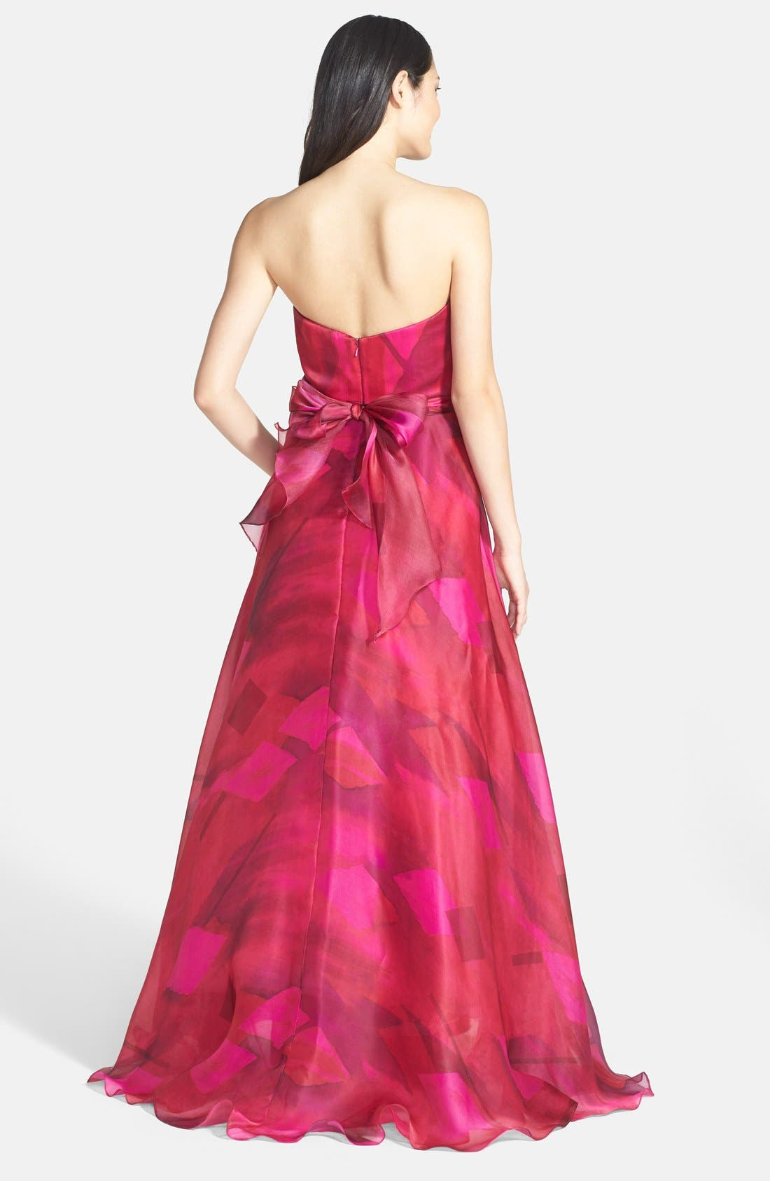Alternate Image 2  - Mikael Aghal Ruched Silk Organza Strapless Gown