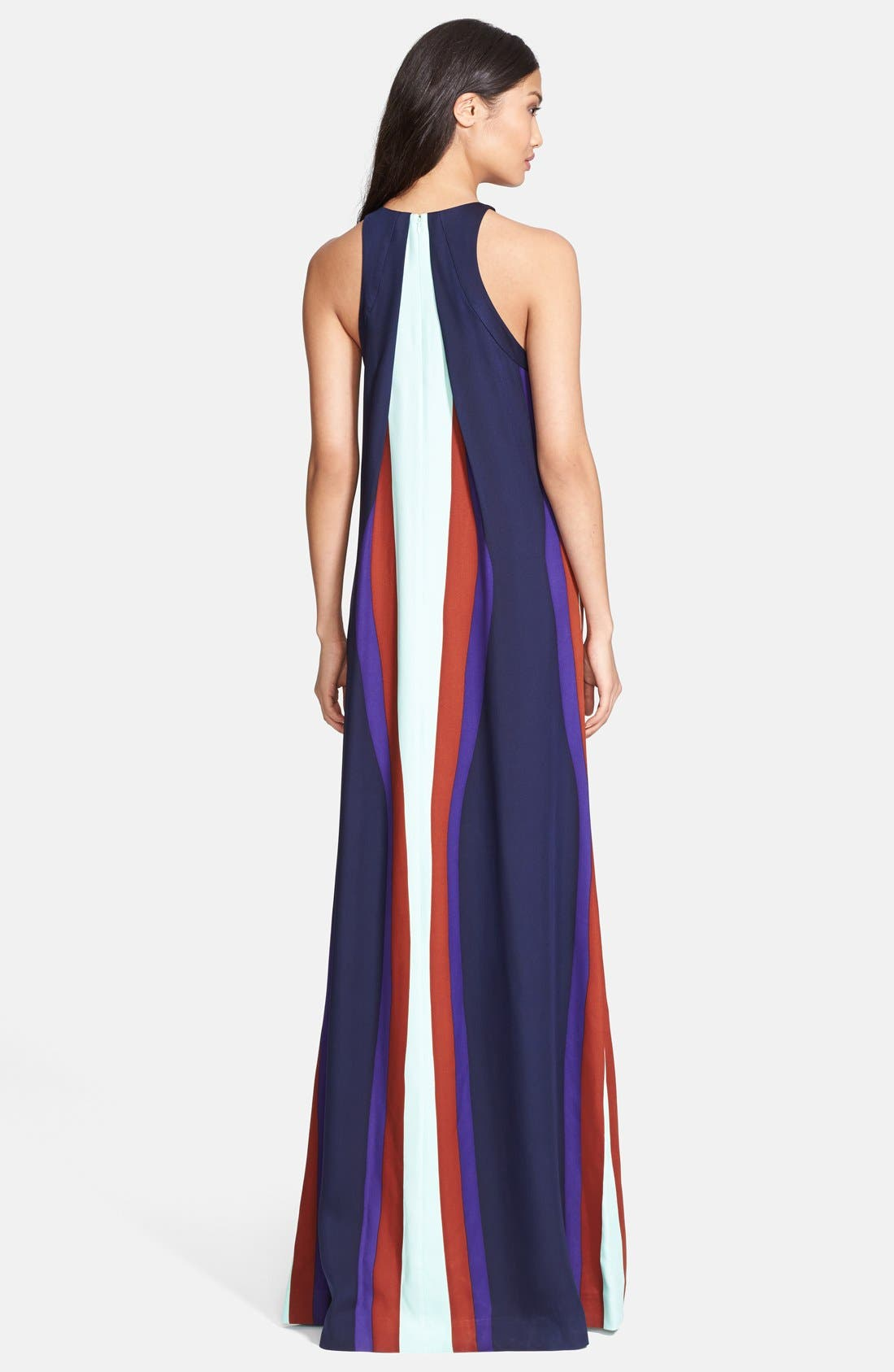Alternate Image 2  - Diane von Furstenberg 'Jordan' Print Stretch Silk Maxi Dress