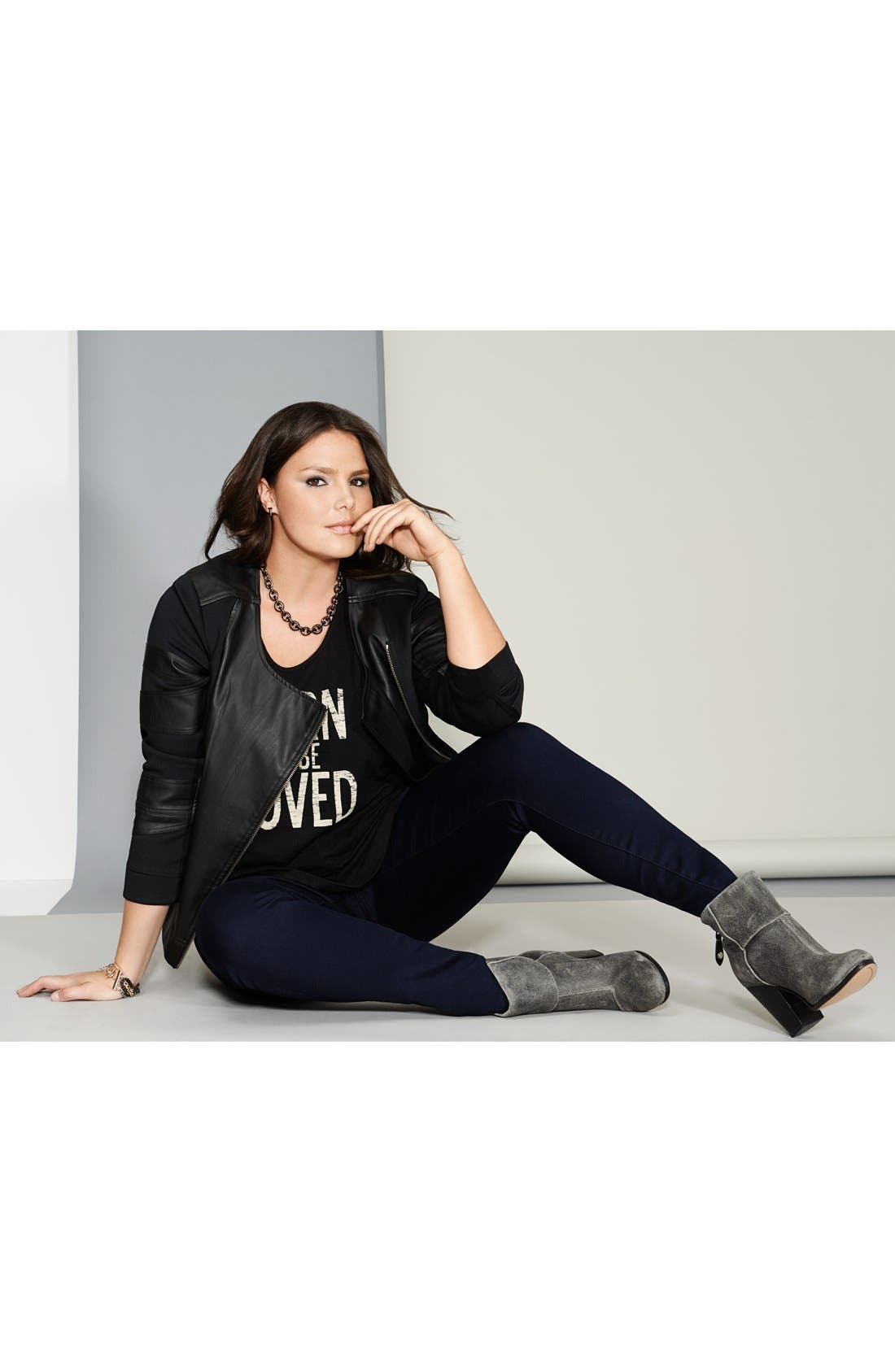 Alternate Image 4  - Two by Vince Camuto 'Born to be Loved' Slub Jersey Tee (Plus Size)