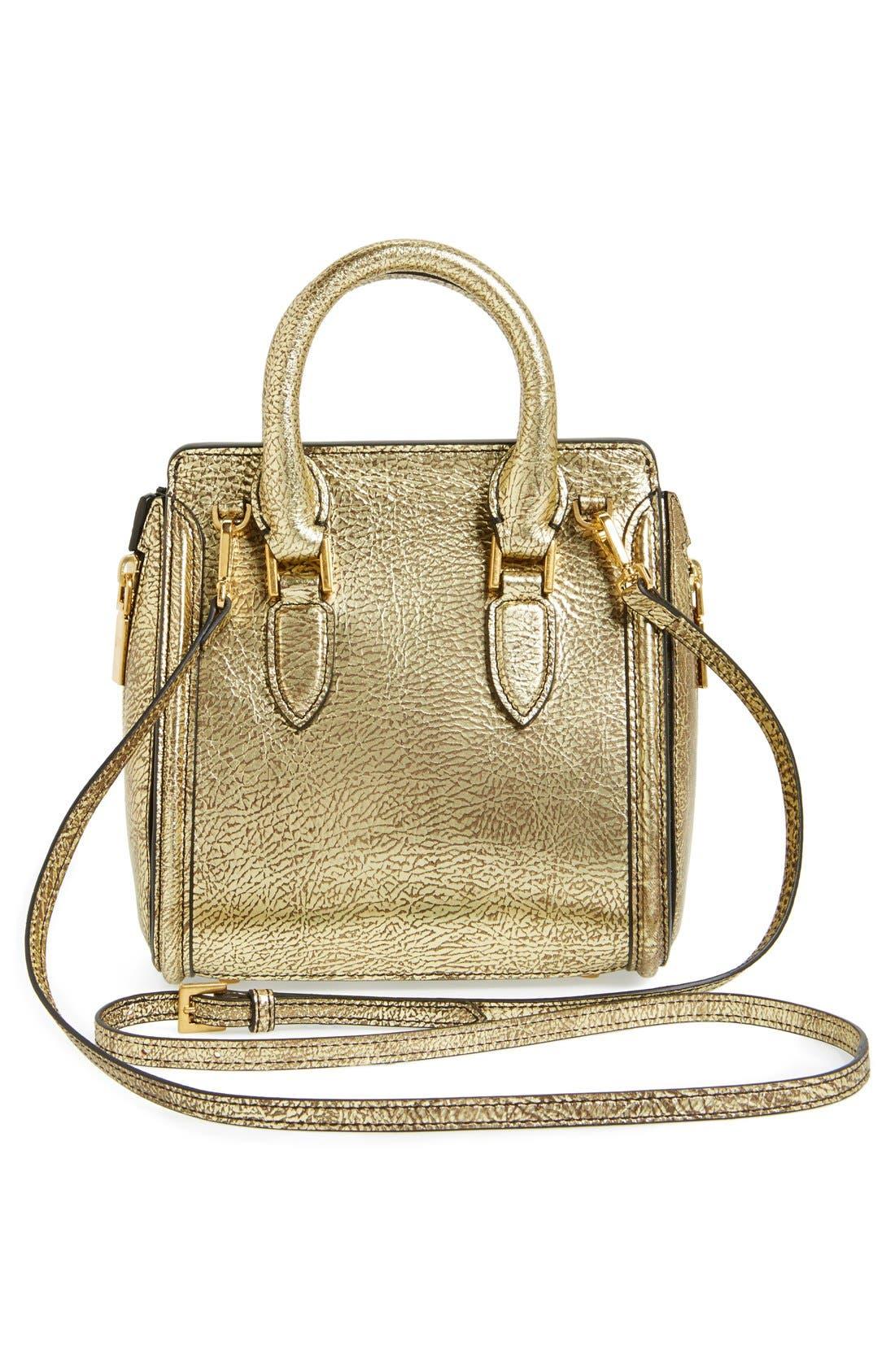 Alternate Image 4  - Alexander McQueen 'Mini Heroine' Metallic Lambskin Leather Crossbody Bag