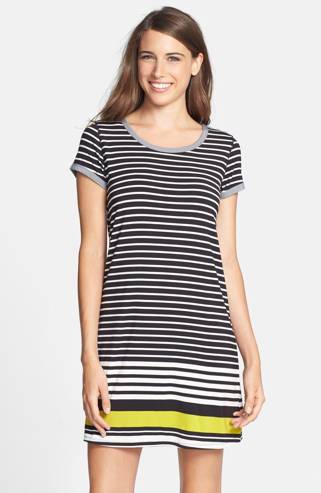 Alternate Image 1 Selected - DKNY 'Graphic Avenue' Print Jersey Sleep Shirt
