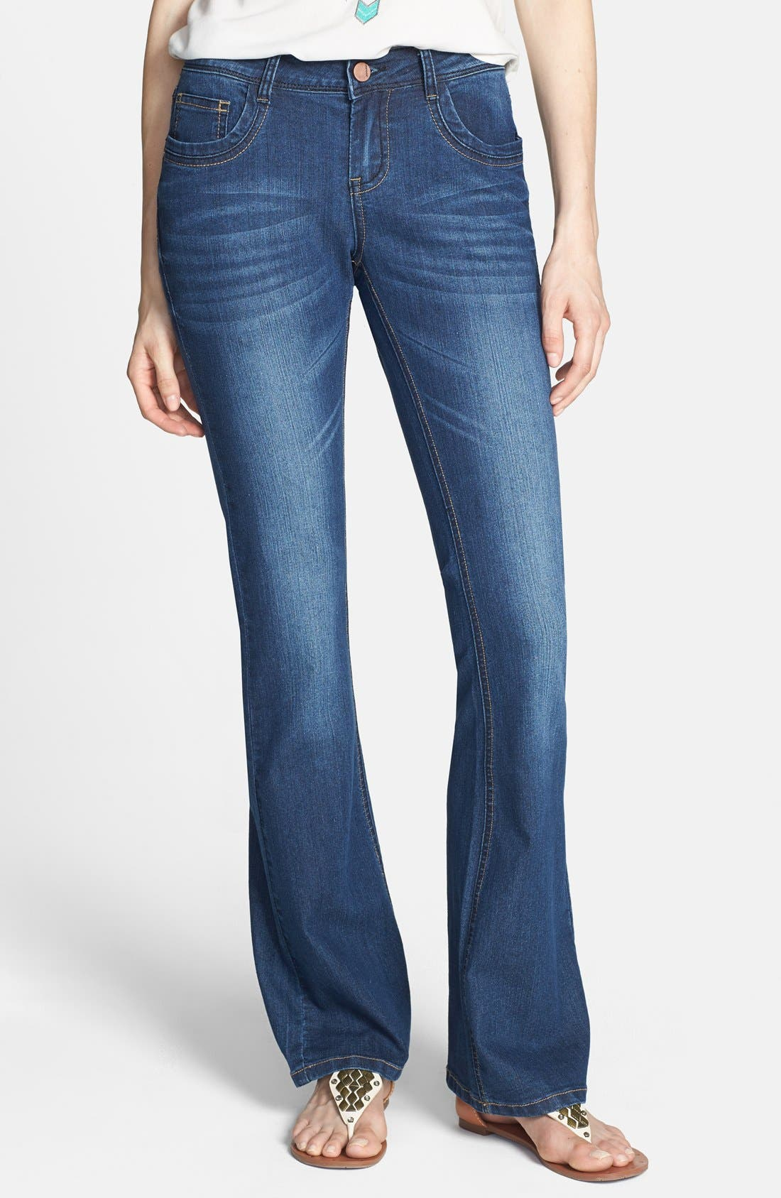 Main Image - Jou Jou Mini Bootcut Jeans (Juniors)