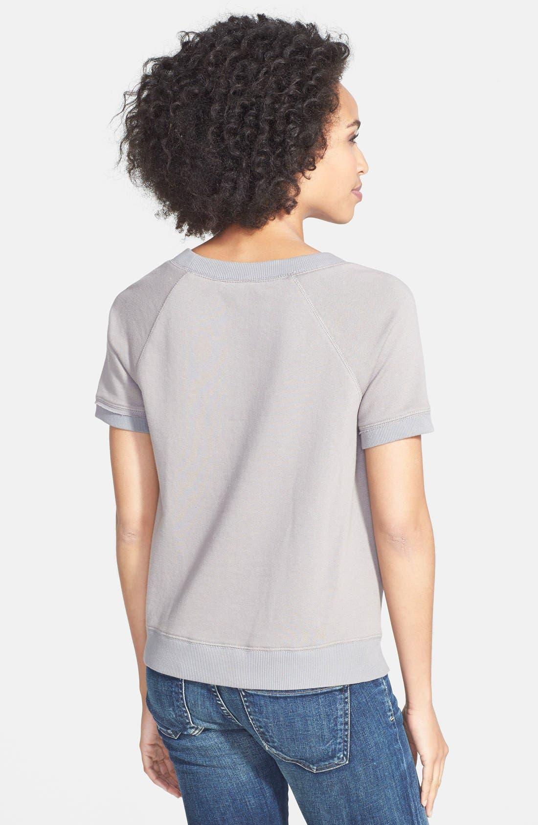 Alternate Image 2  - Halogen® Print Front Sweatshirt (Regular & Petite)