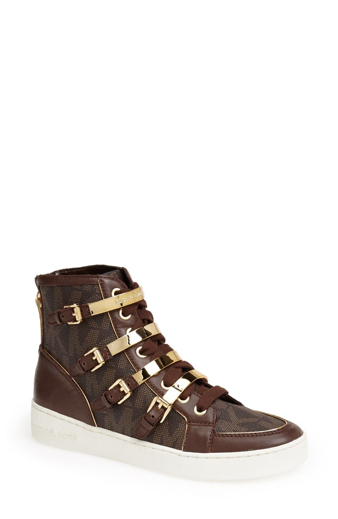 Alternate Image 1 Selected - MICHAEL Michael Kors 'Kimberly' High Top Sneaker (Women)