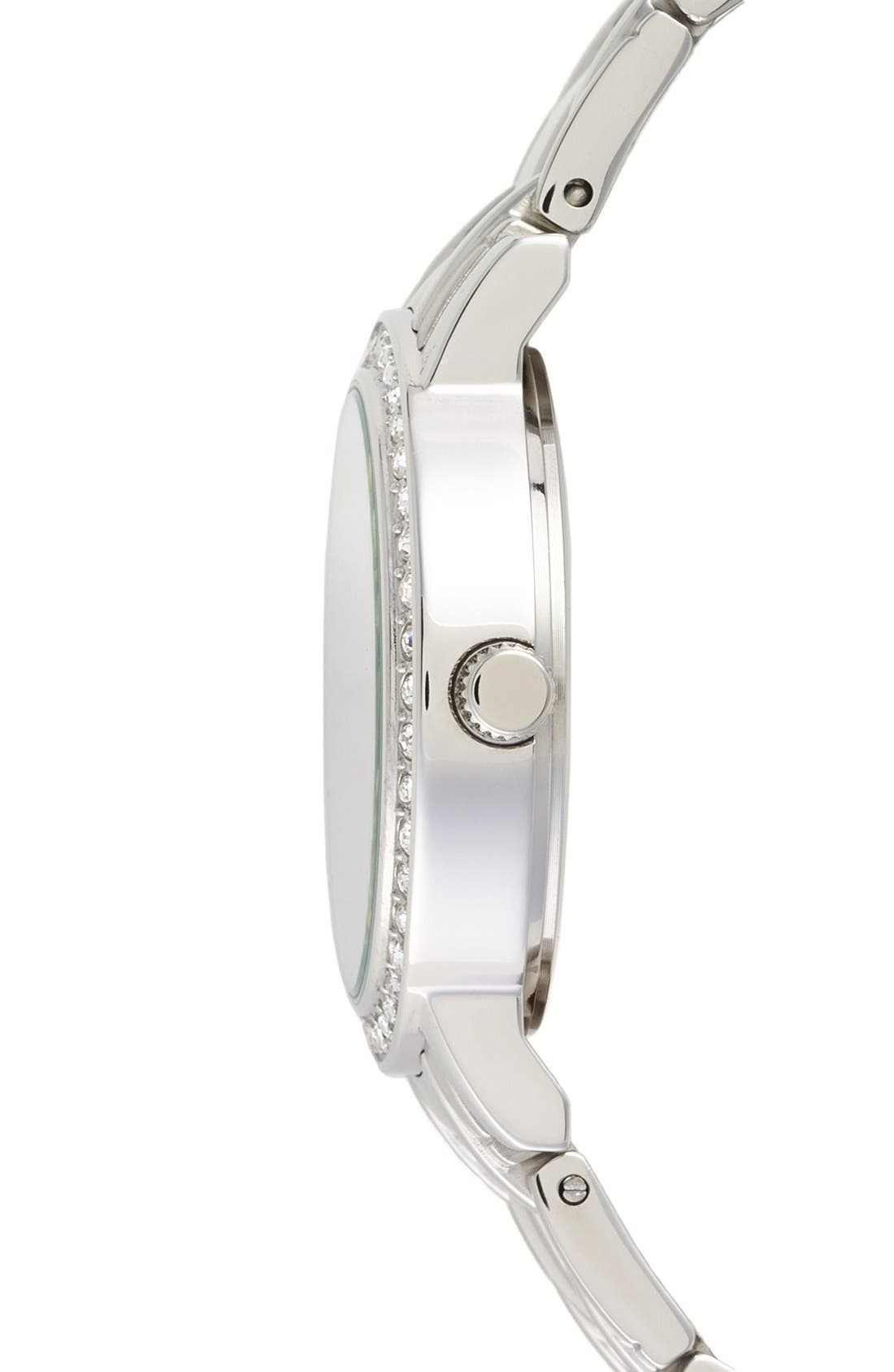 Alternate Image 3  - Game Time Watches 'MLB All Star' Crystal Bezel Bracelet Watch, 32mm