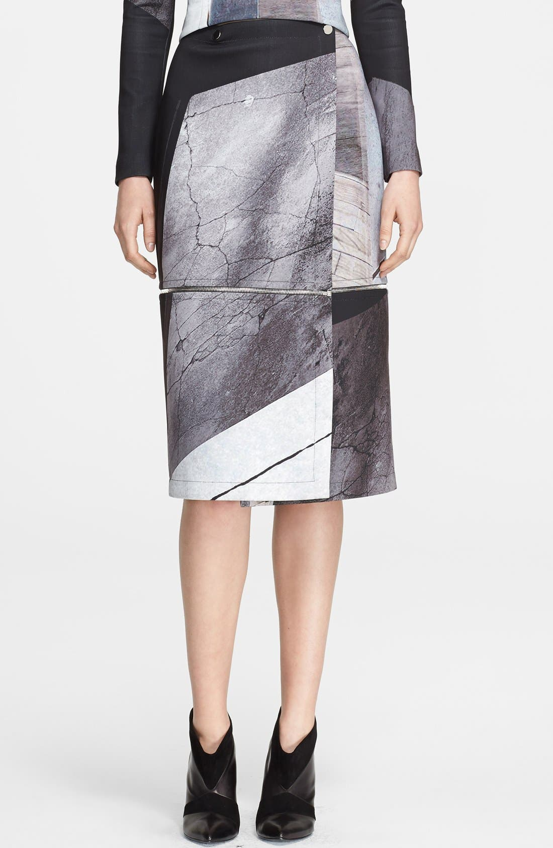 Alternate Image 1 Selected - Yigal Azrouël Print Adjustable Length Skirt
