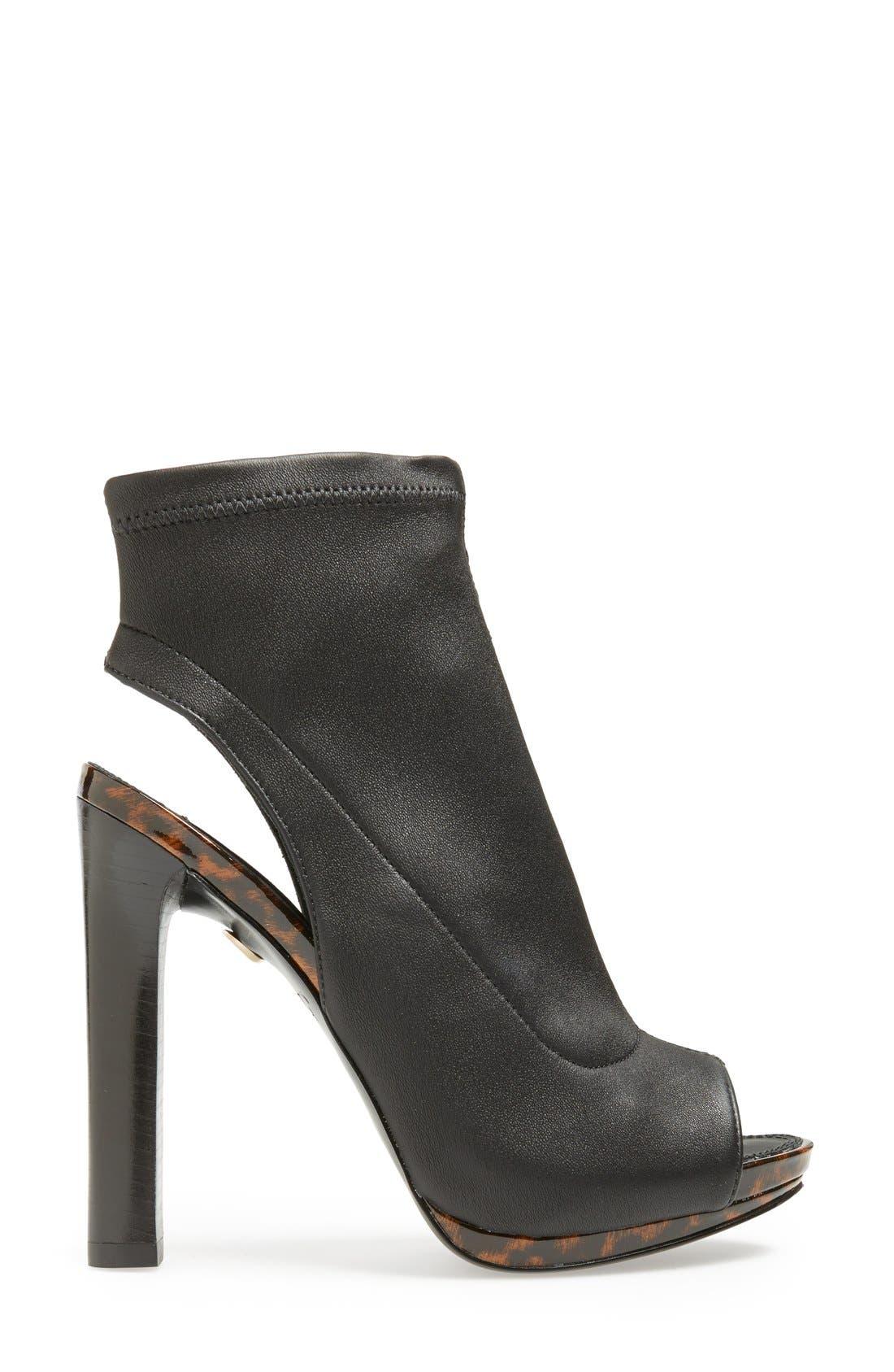 Alternate Image 4  - Diane von Furstenberg 'Armara' Peep Toe Stretch Leather Bootie (Women)