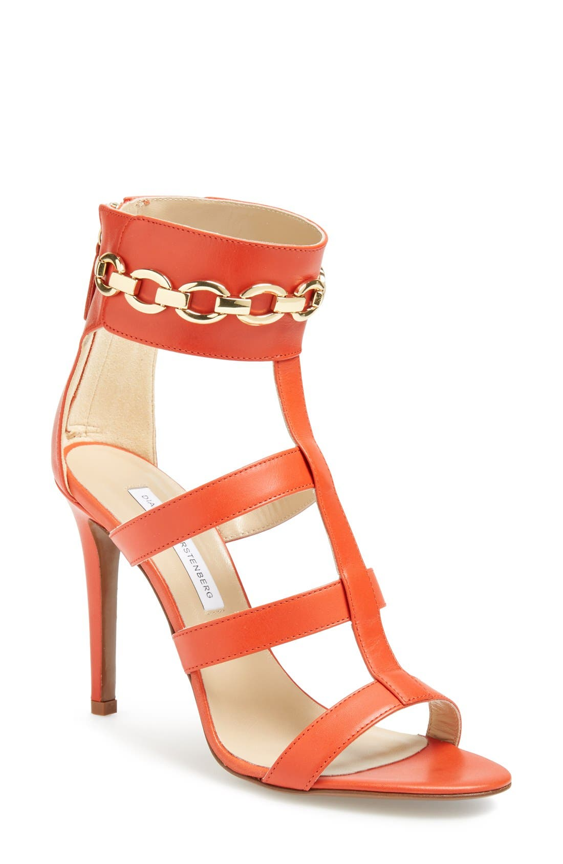 Alternate Image 1 Selected - Diane von Furstenberg 'Uma' Leather Sandal (Women)