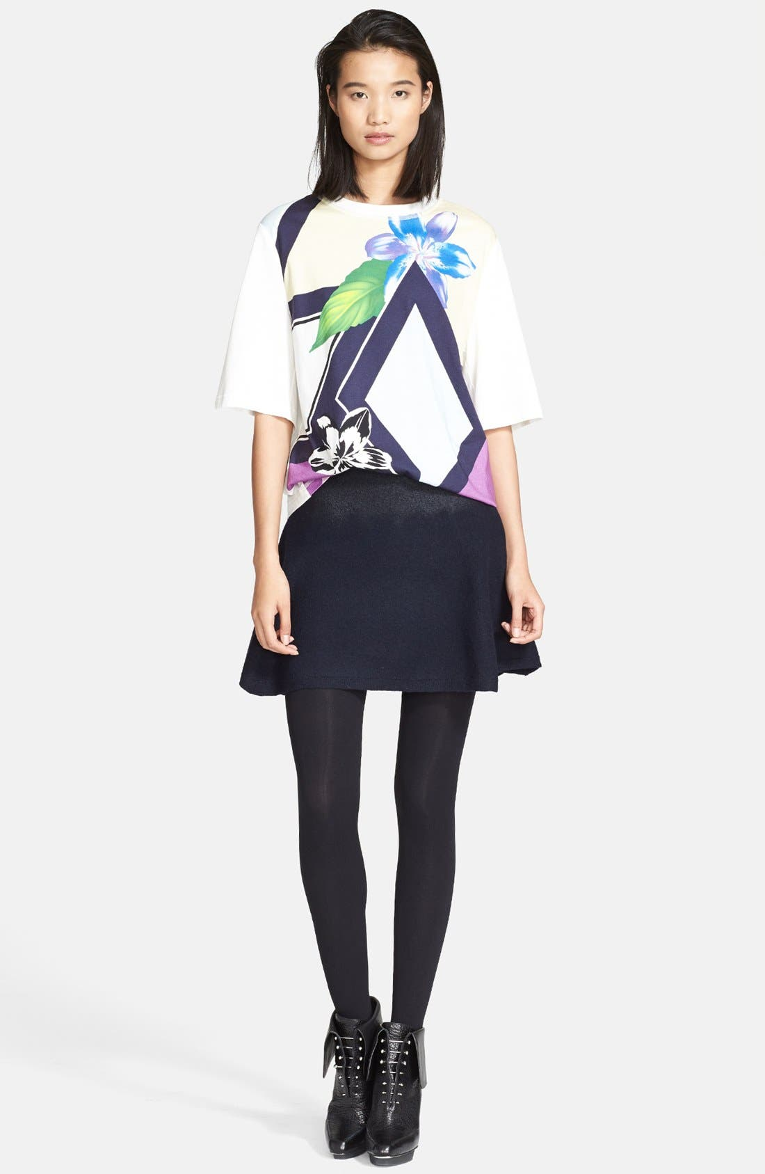 Main Image - 3.1 Phillip Lim Floral Print Oversized Tee