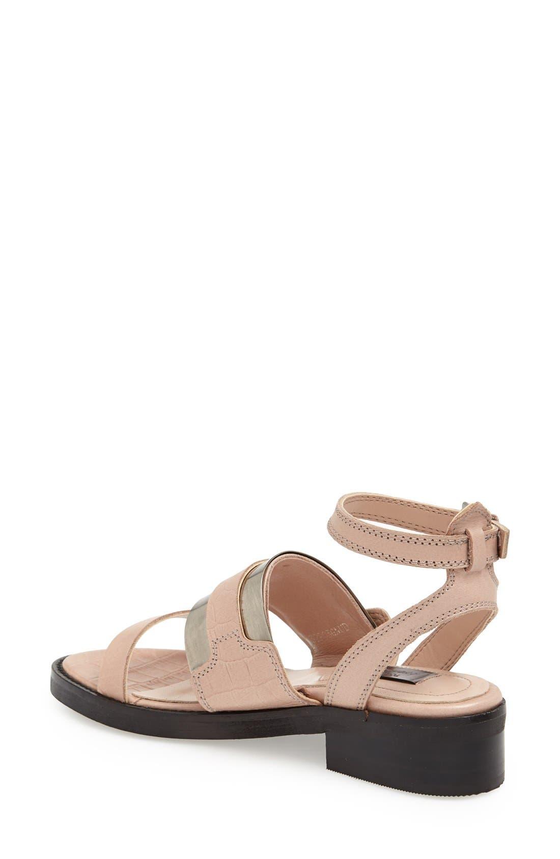 Alternate Image 2  - Topshop 'Premium - Preeta' Ankle Strap Sandal (Women)