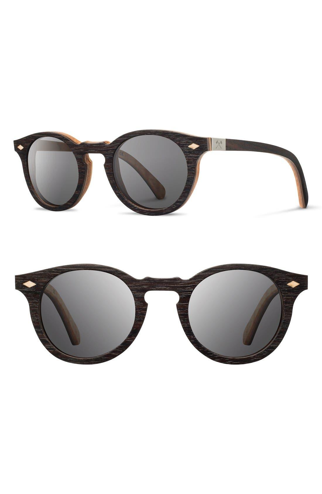 Main Image - Shwood 'Florence' 49mm Polarized Wood Sunglasses