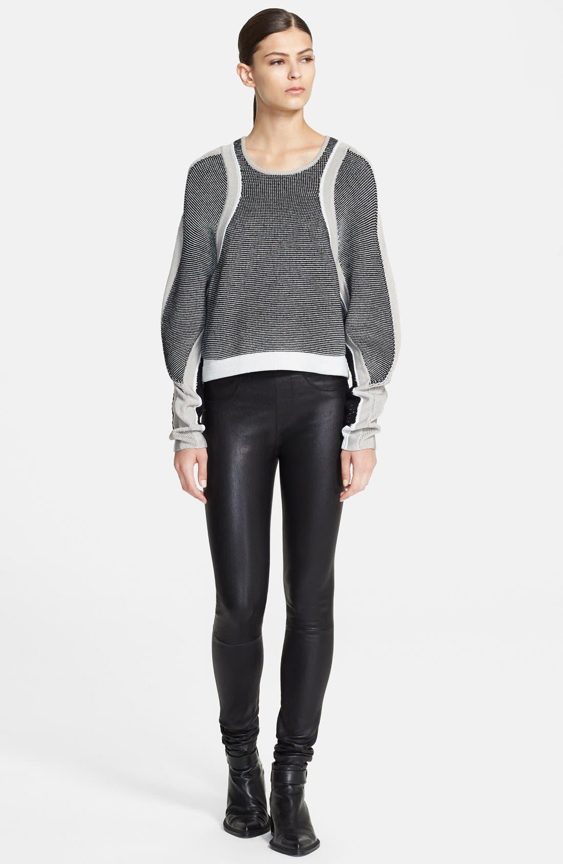 Alternate Image 1 Selected - Helmut Lang 'Converging Panels' Sweater