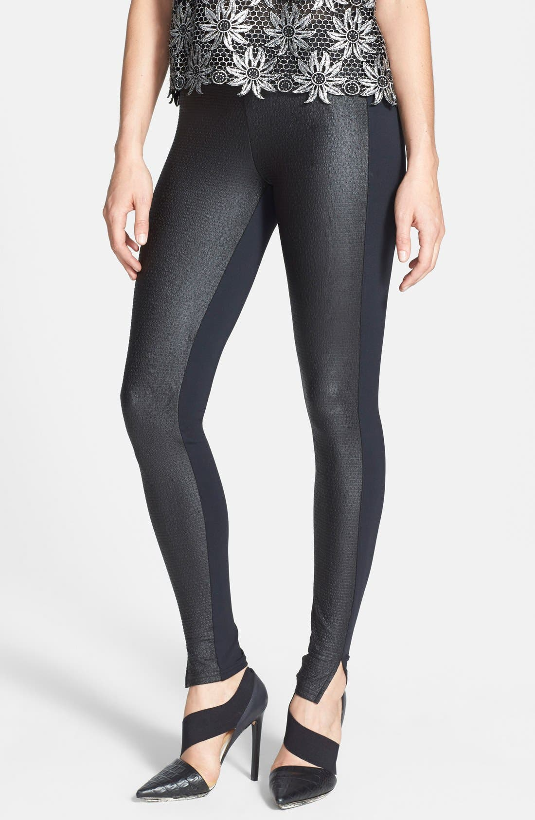 Alternate Image 1 Selected - Leith Textured Leggings