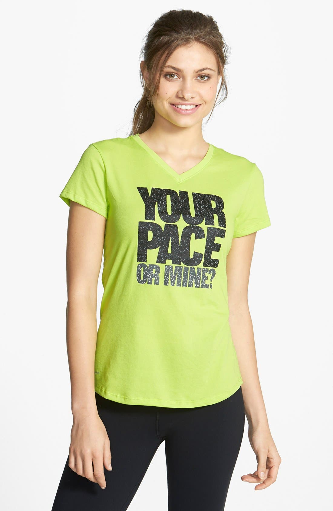 Main Image - Nike 'Run - Your Pace or Mine?' Dri-FIT Tee