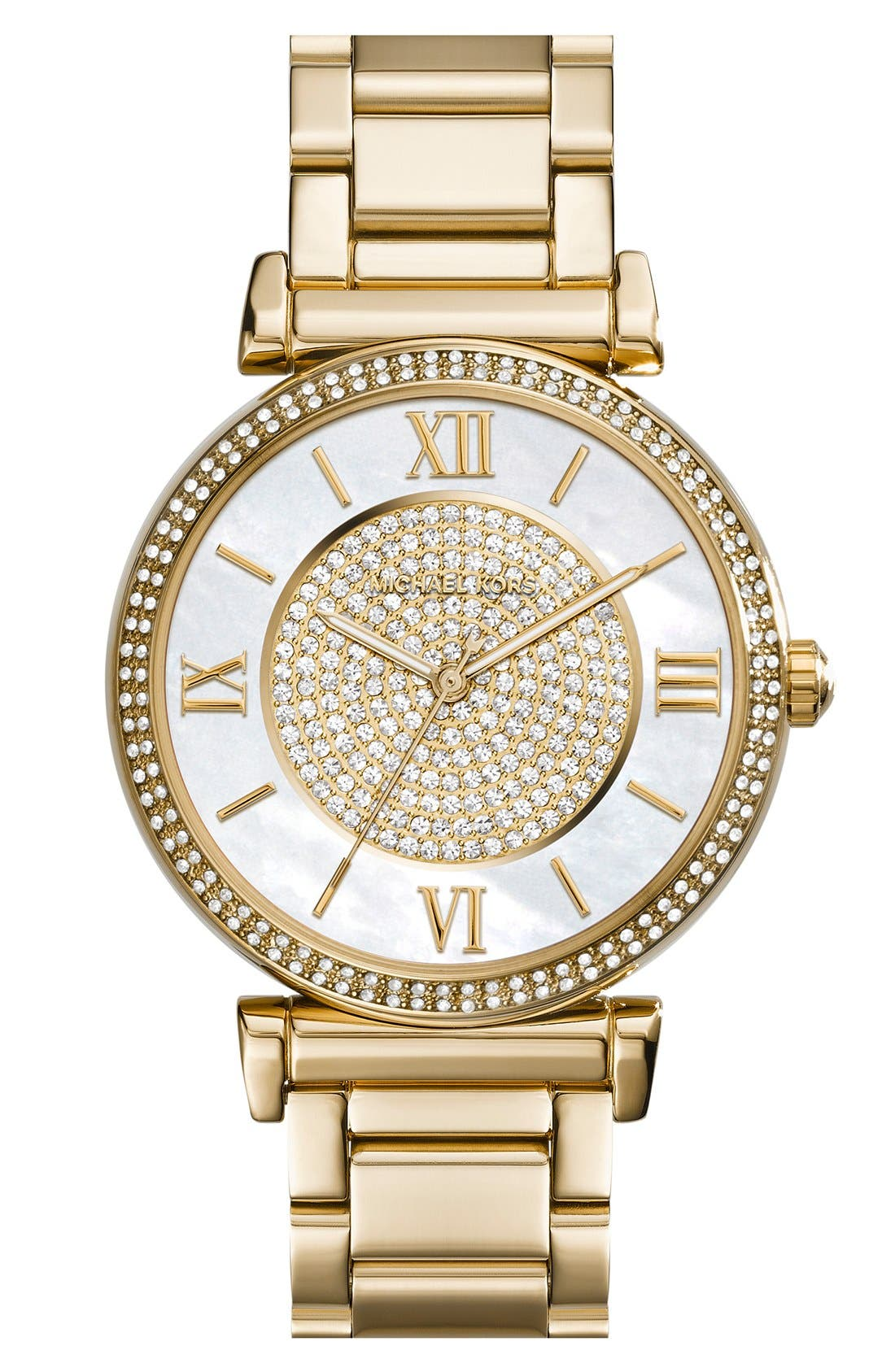 Alternate Image 1 Selected - Michael Kors 'Caitlin' Crystal Dial Bracelet Watch, 38mm