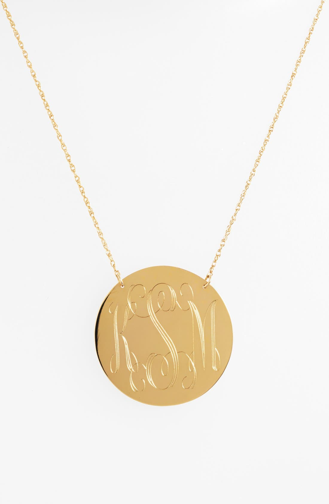 Alternate Image 1 Selected - Moon and Lola Personalized Script Monogram Pendant Necklace (Online Only)
