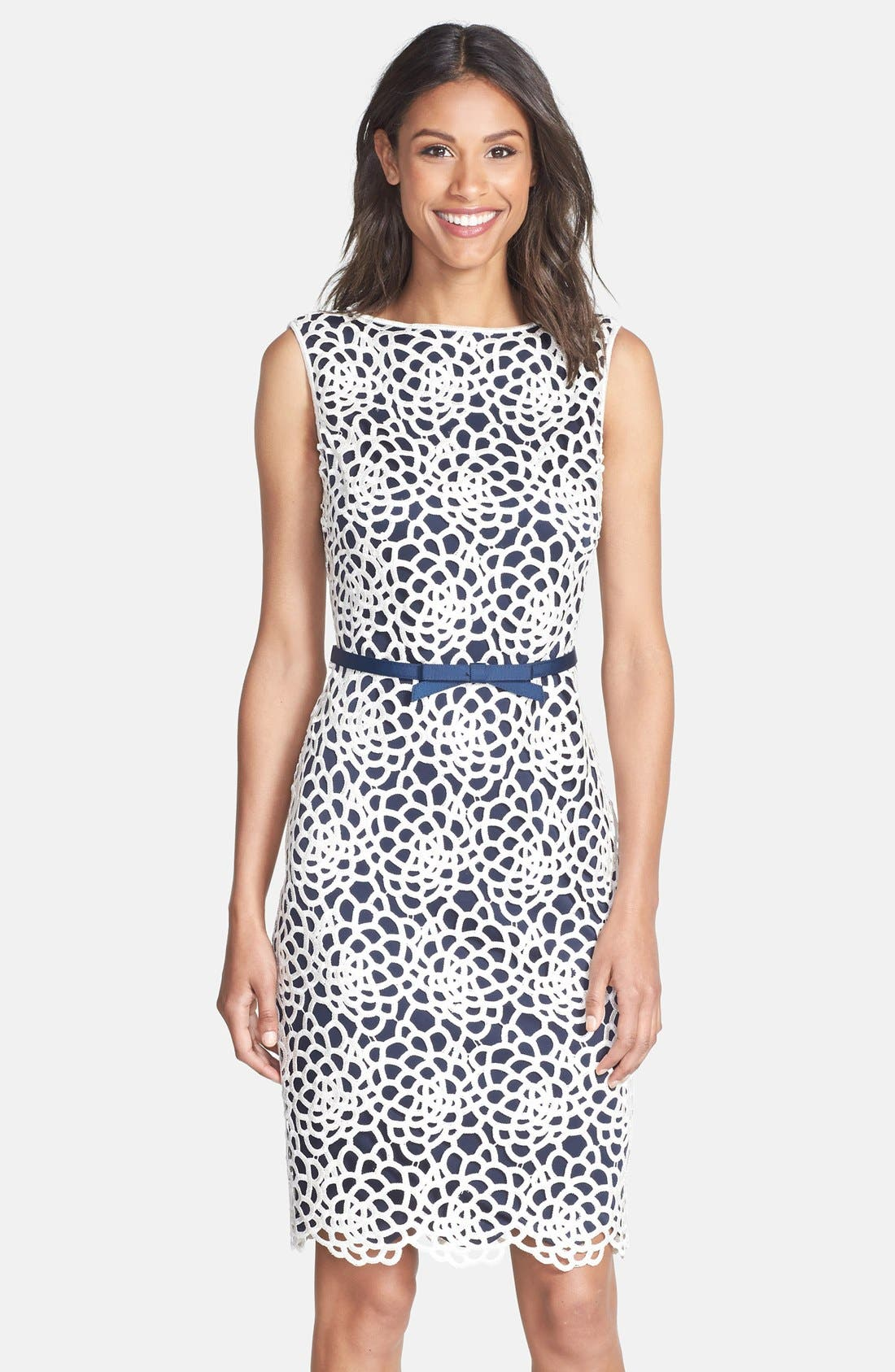 Main Image - Tadashi Shoji Embroidered Sheath Dress