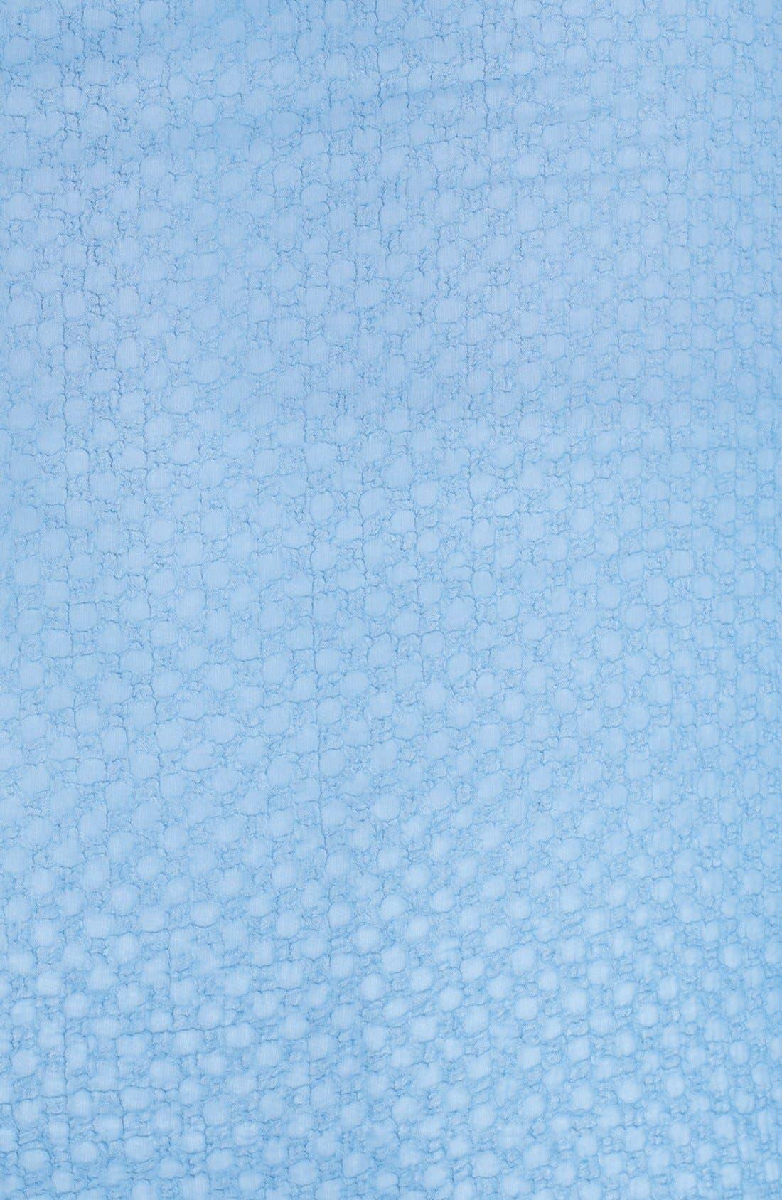 Alternate Image 3  - Pleione Textured Chiffon V-Neck Blouse (Plus Size)