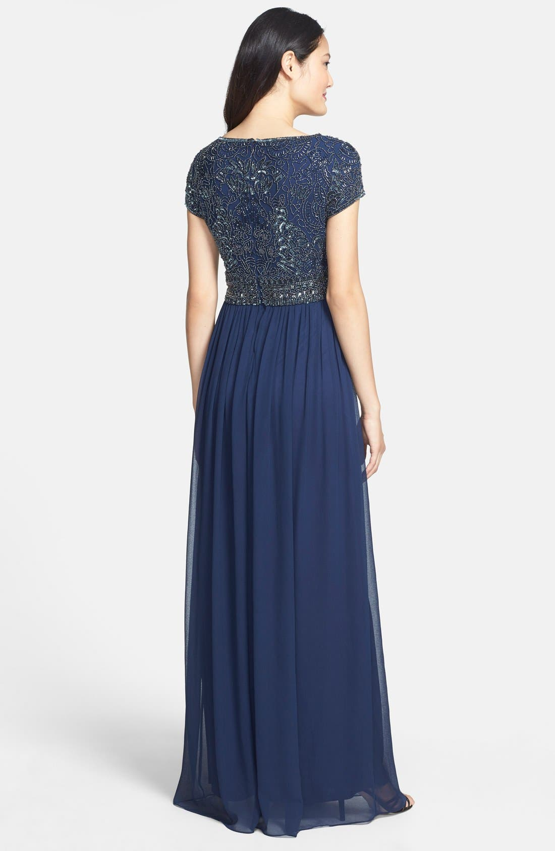 Alternate Image 2  - Adrianna Papell Embellished Cap Sleeve Gown