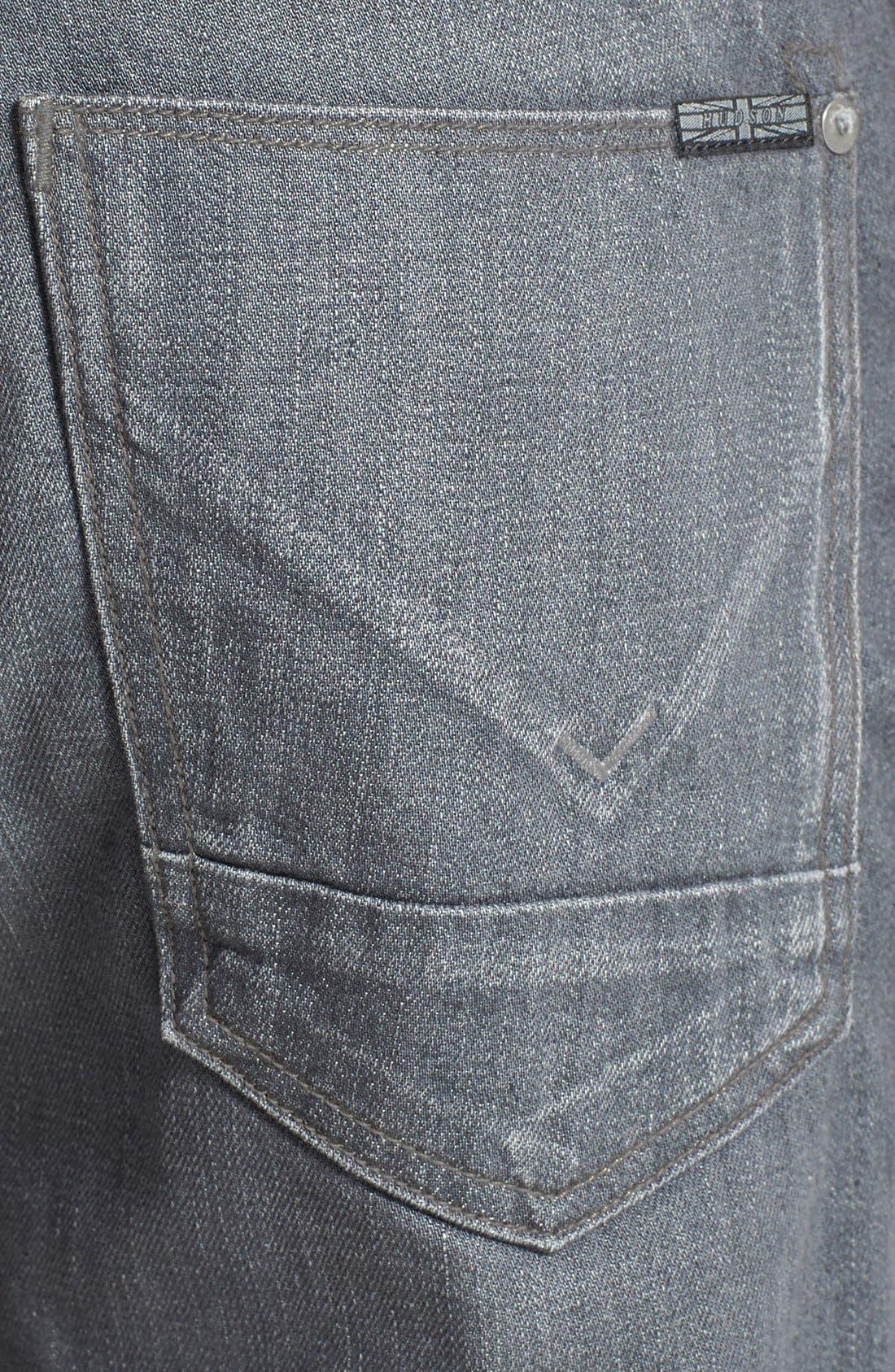 Alternate Image 4  - Hudson Jeans 'Byron' Straight Leg Jeans (Grey Rider)