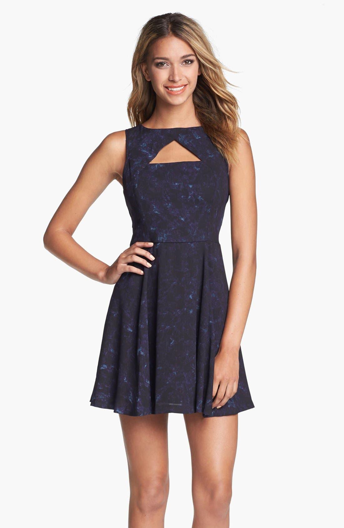 Alternate Image 1 Selected - BB Dakota 'Della' Print Fit & Flare Dress
