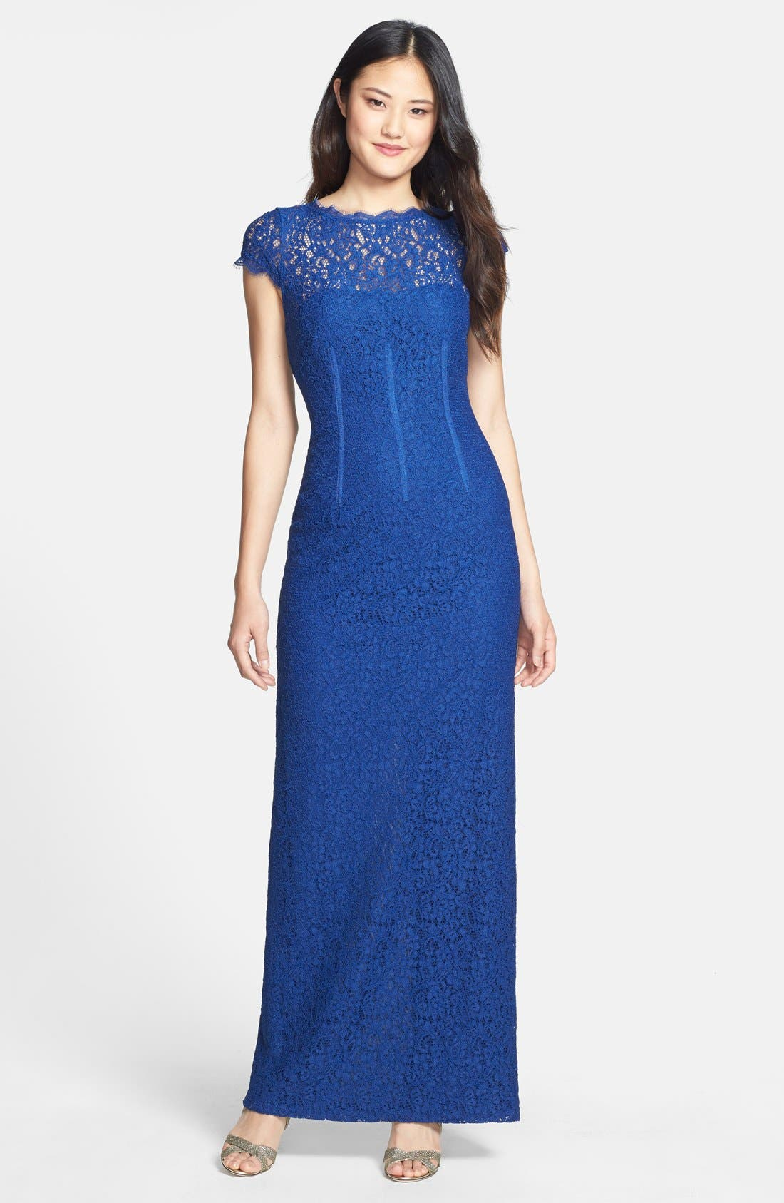 Main Image - Adrianna Papell Lace Column Gown