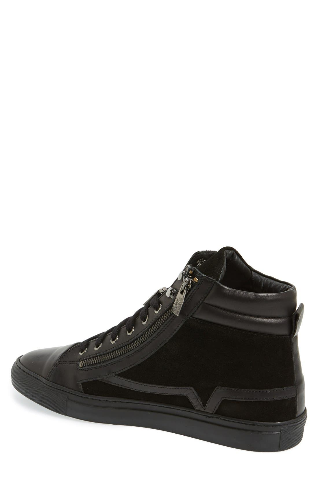Alternate Image 2  - Versace Collection Suede & Leather High Top Sneaker (Men)