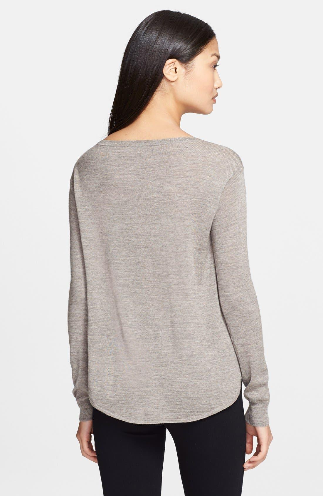 Alternate Image 2  - Theory 'Landran' Wool & Silk Sweater