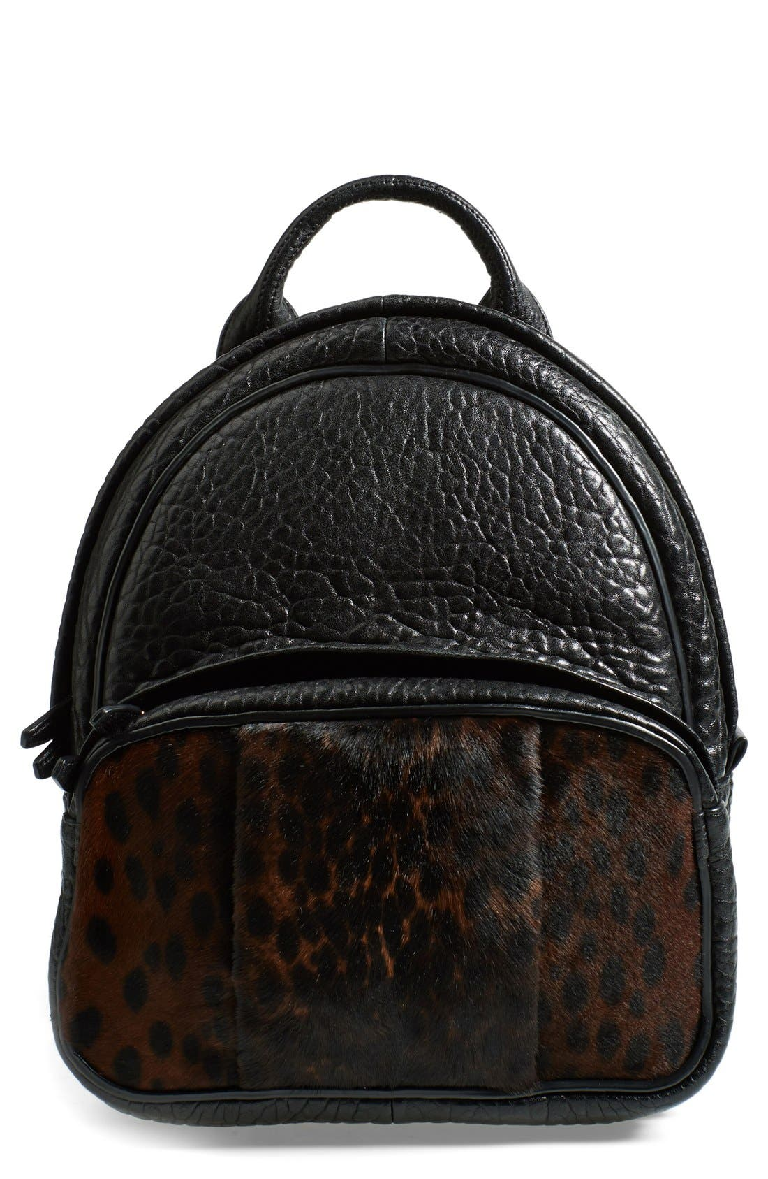Alternate Image 1 Selected - Alexander Wang 'Dumbo' Leather & Calf Hair Backpack